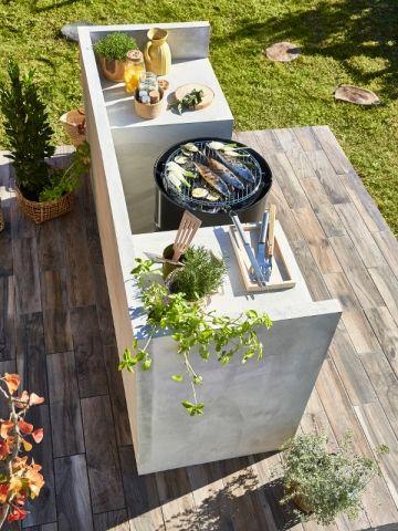 Quand le barbecue devient un élément incontournable du jardin BBQ - plan de travail pour barbecue exterieur