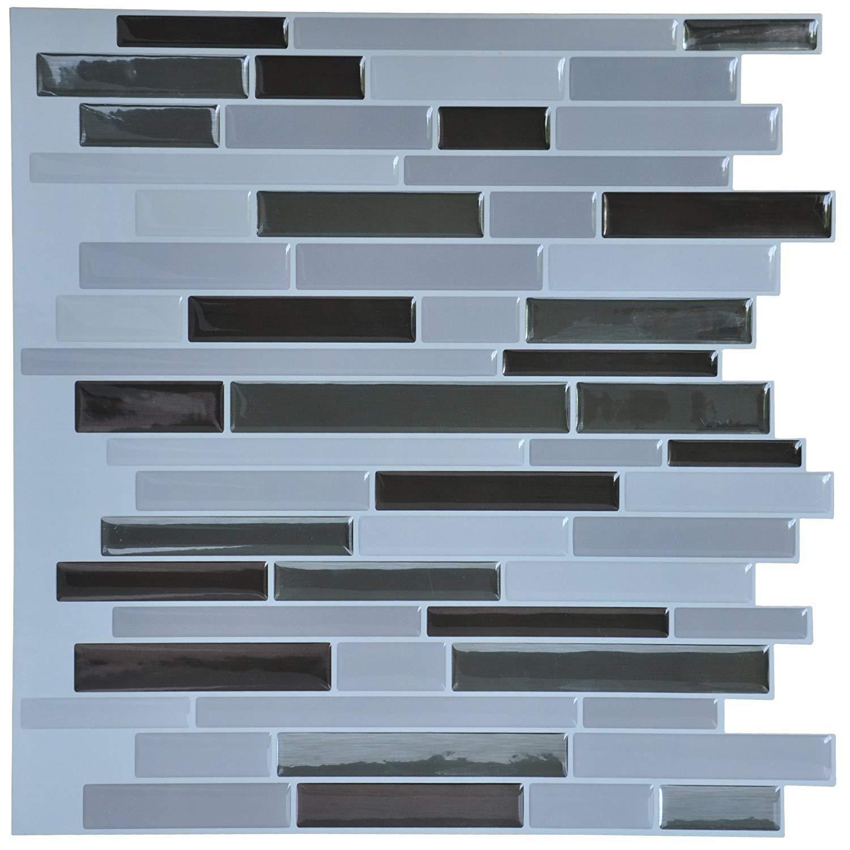 Art3D 12 X 12 Peel And Stick Tile For Kitchen Backsplash White Subway Backspl Other Flooring