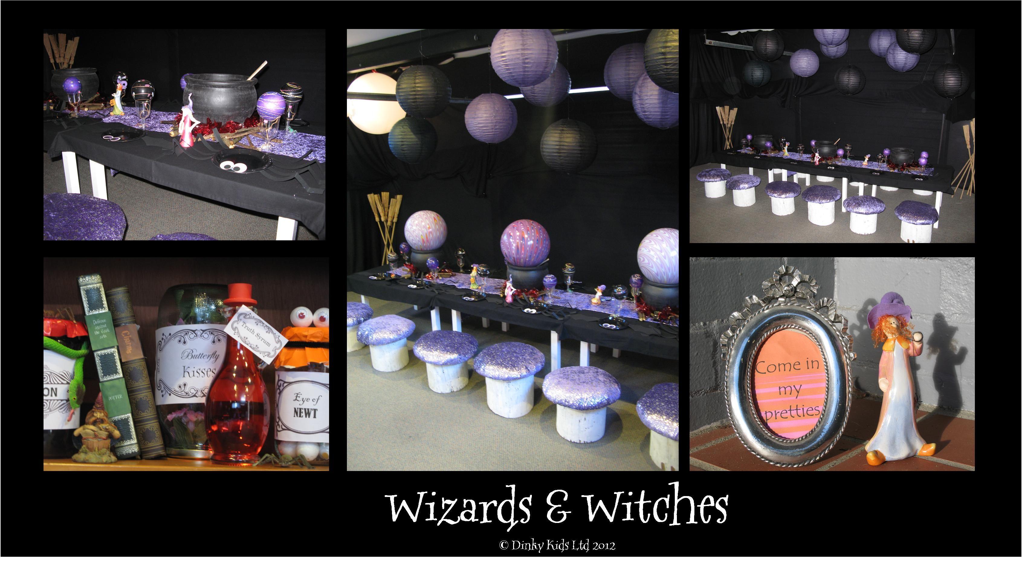 Wizards And Witches Party Styling C Dinky Kids Party Hire - Childrens birthday party ideas auckland