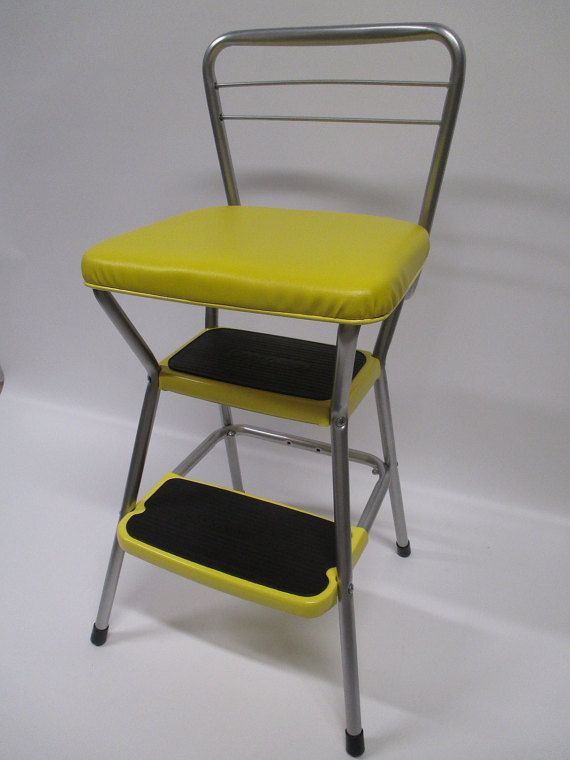 Cool Vintage Restored Cosco Kitchen Utility Flip Seat By Machost Co Dining Chair Design Ideas Machostcouk