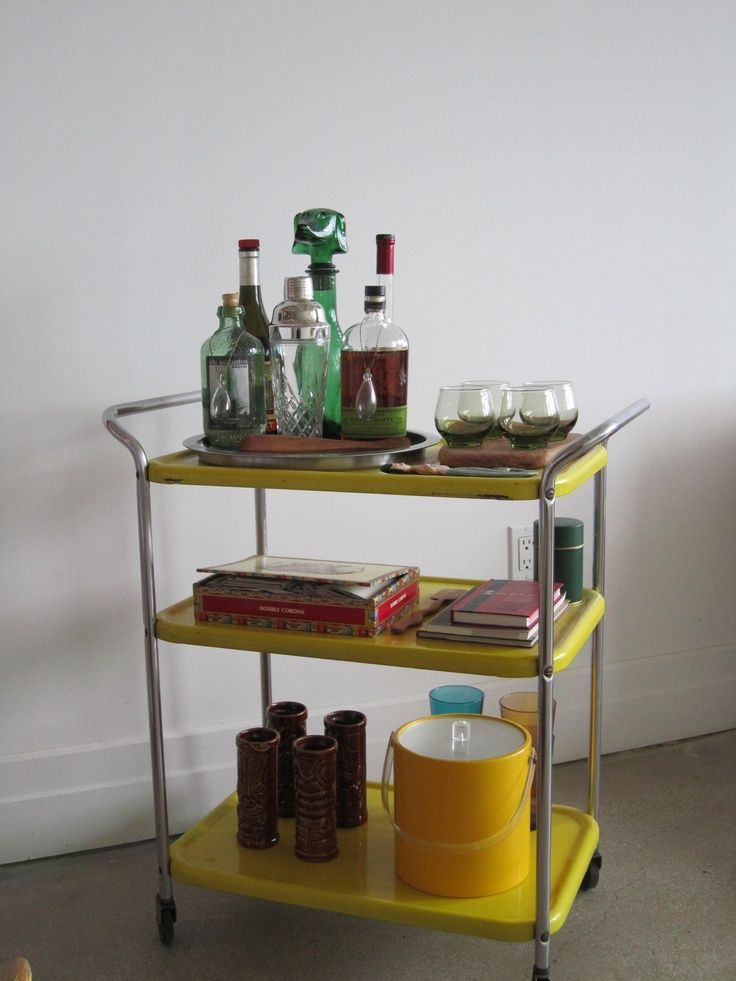 Mid Century Modern Bar Cart Google Search