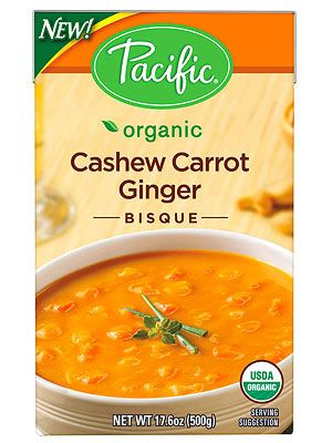 FITNESS Healthy Food Awards: The Best Soups...   Pacific Organic Cashew-Carrot-Ginger Bisque