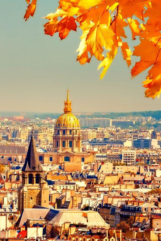 Fall Cellphone Wallpaper Autumn In Paris Wallpaper Fall Wallpaper Paris