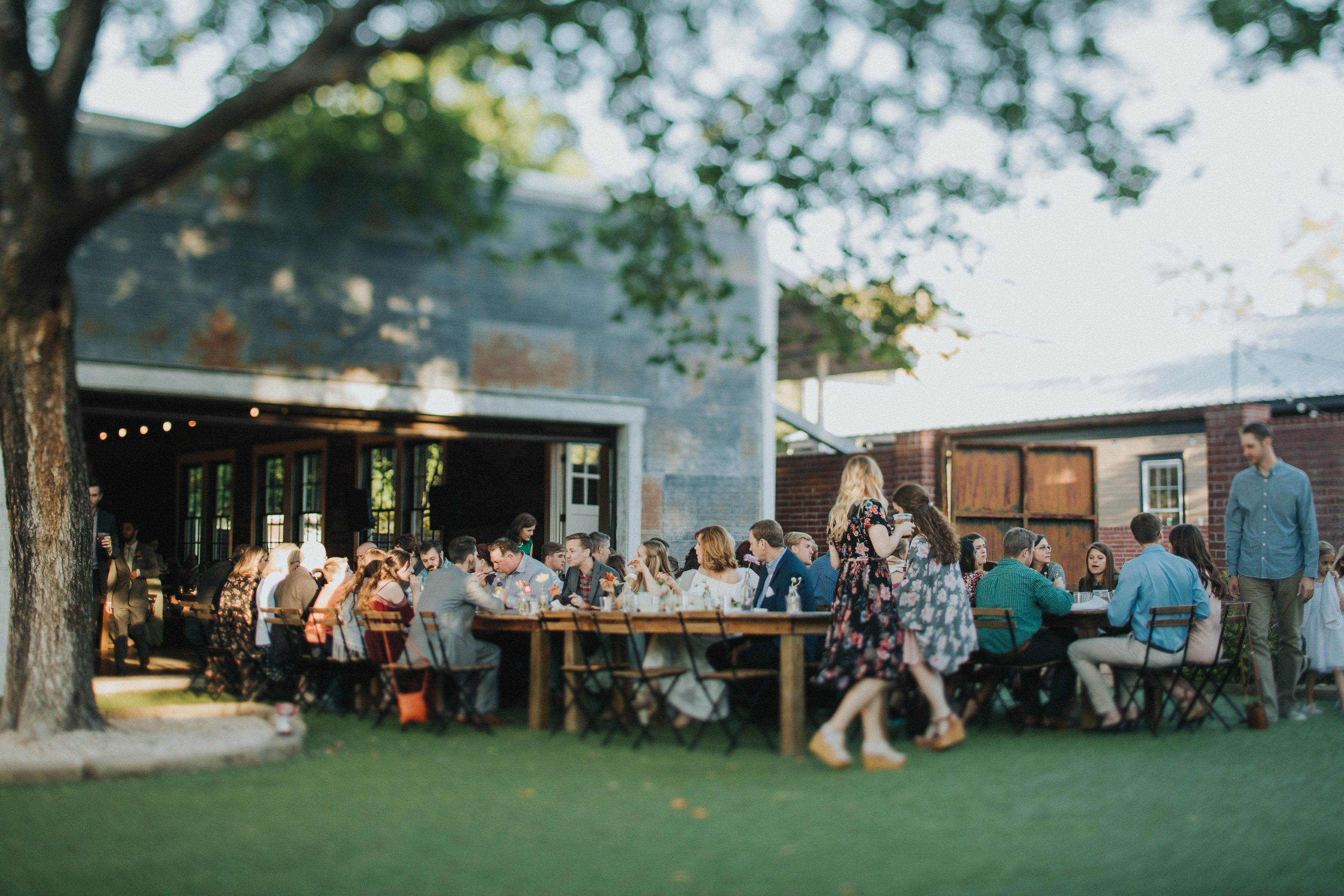 Outdoor Wedding Reception The Union On Eighth In Georgetown Texas Venue