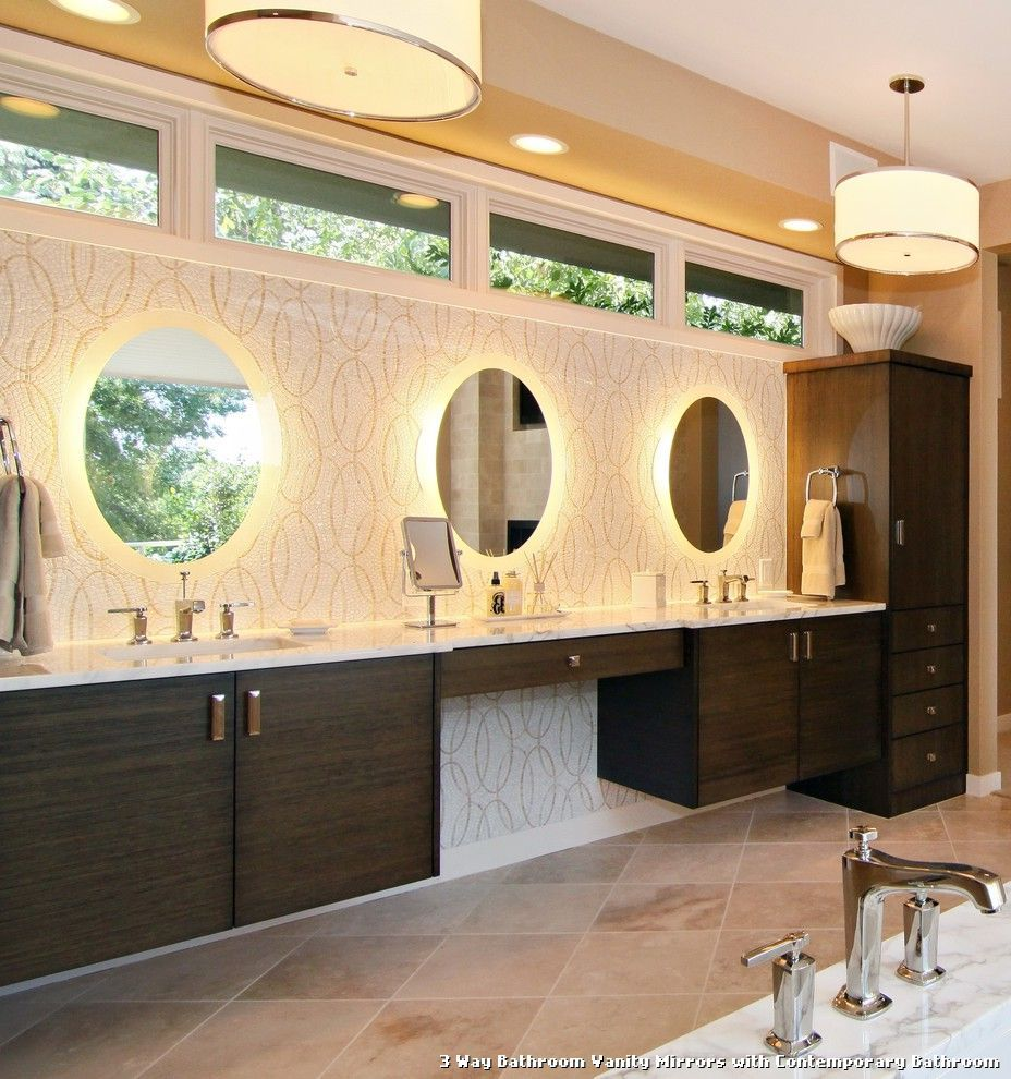 3 Way Bathroom Vanity Mirrors Dengan