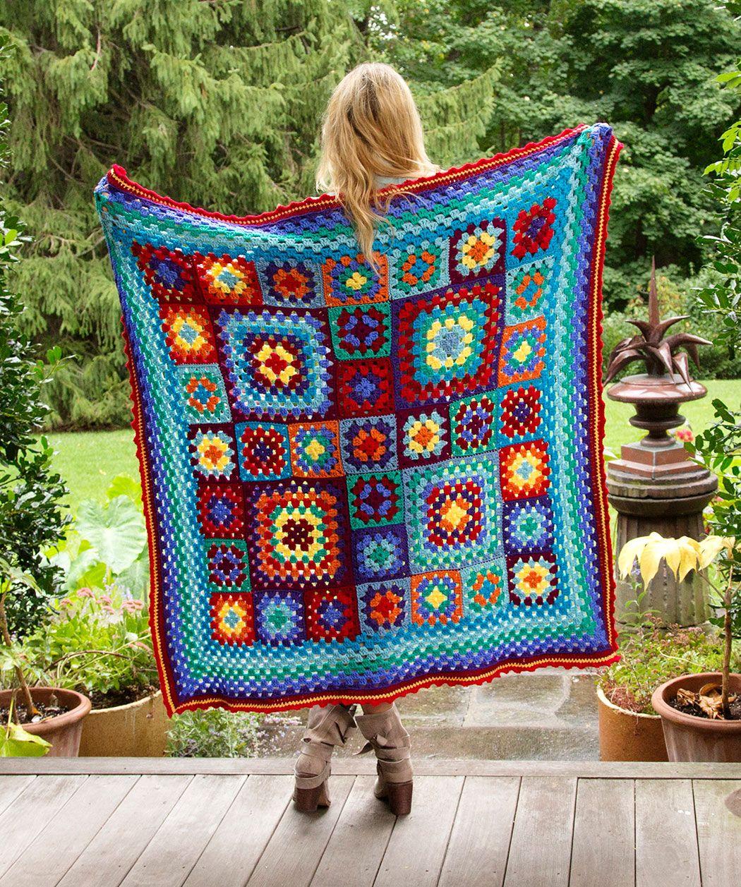 Make a Blanket Statement Crochet Pattern   Crochet patterns, Crochet,  Crochet knit blanket