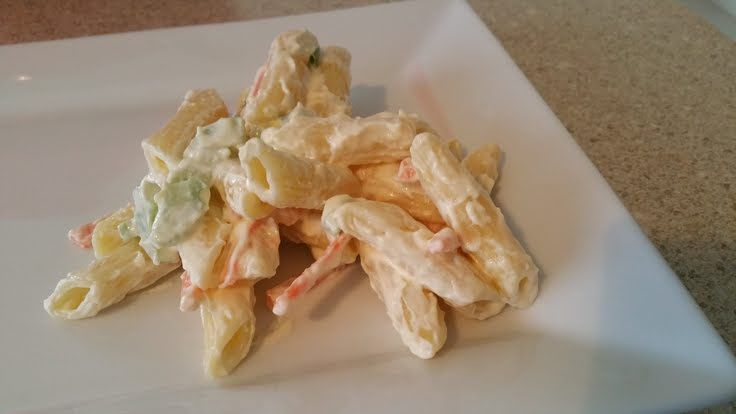 "Creamy Pasta Salad! """"  @allthecooks #recipe #salad #pasta"