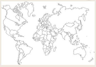 תוצאת תמונה עבור מפה עיוורת של העולם עיצוב pinterest coloring