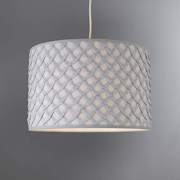 Nancy Grey Fabric Ceiling Light Shade Bedroom Ceiling Lights