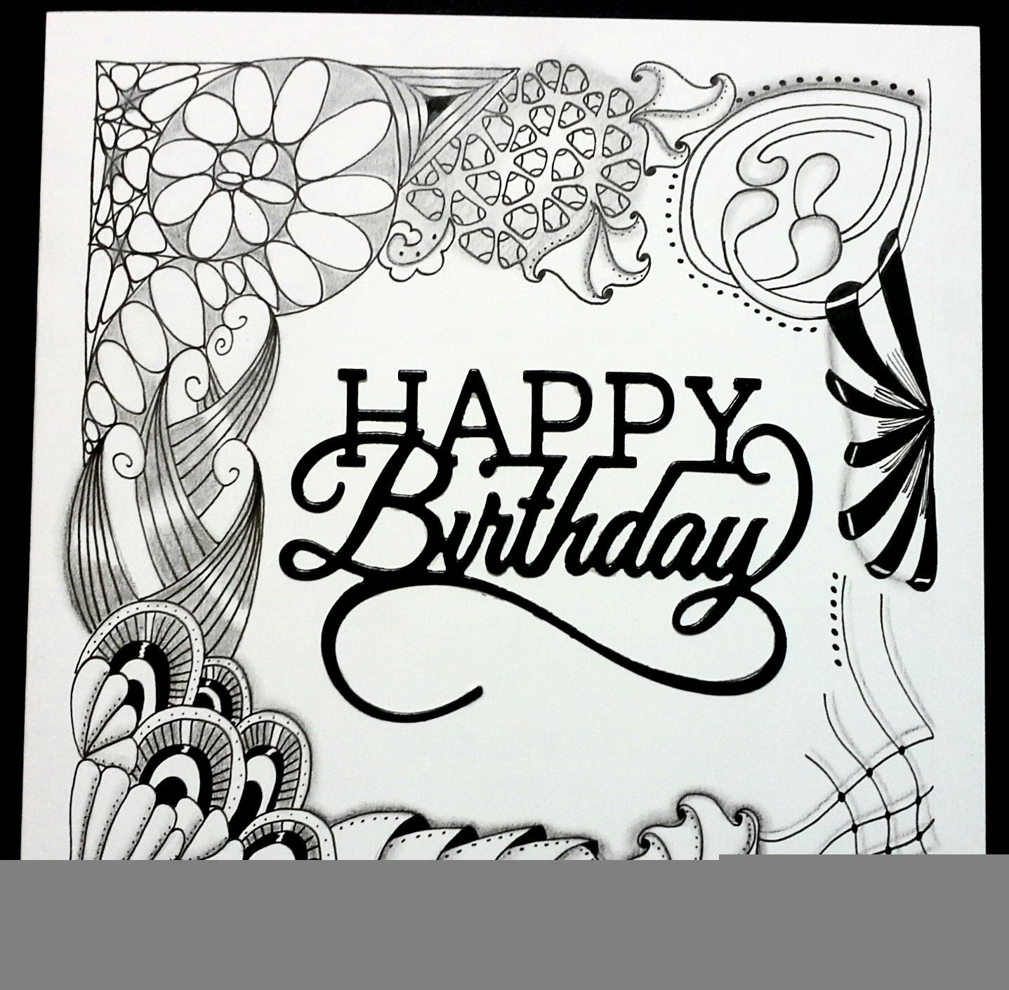 Pin By Kimberly Rozema On Zentangle Birthday Coloring Pages