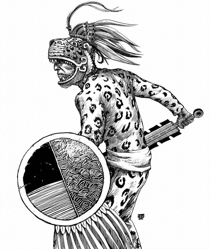 Inca Jaguar: Aztec Warrior, Aztec Art, Mayan Art