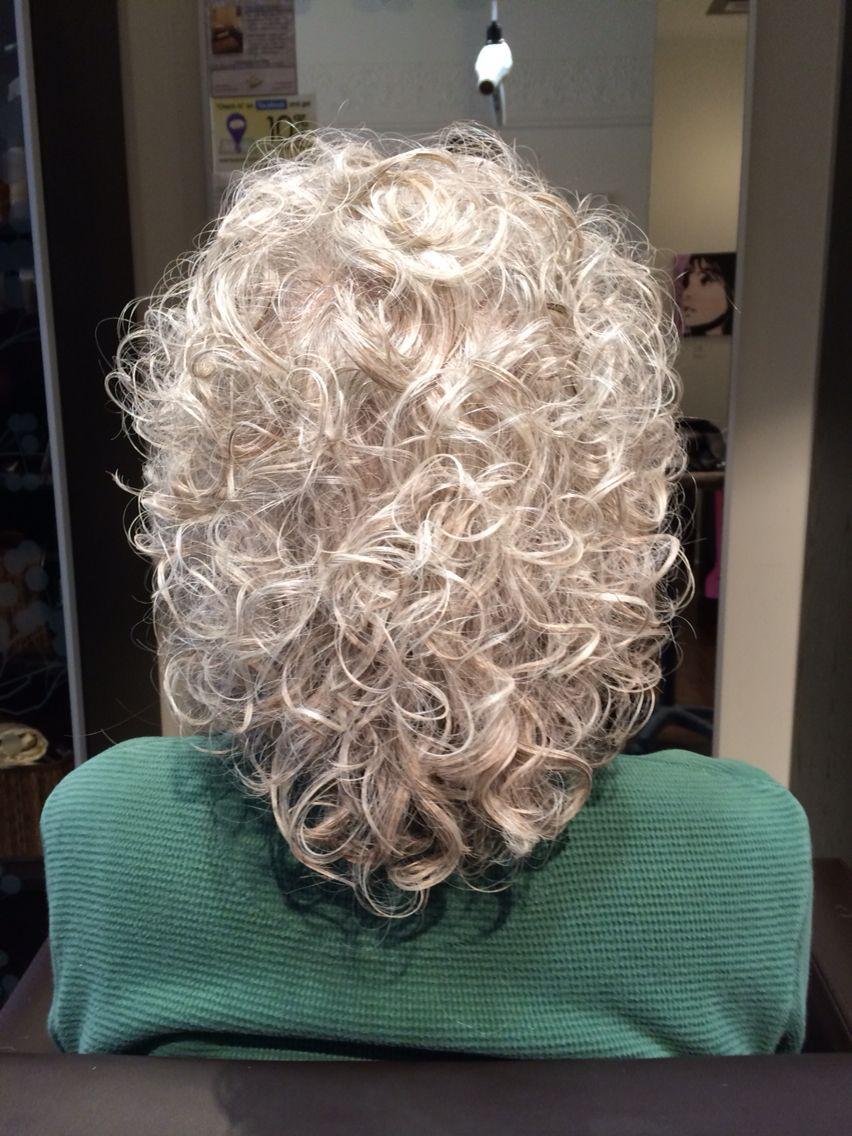 grey curly hair - adding