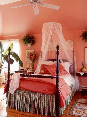 Make Your Walls Pop Coral Bedroom Tropical Bedrooms Woman Bedroom