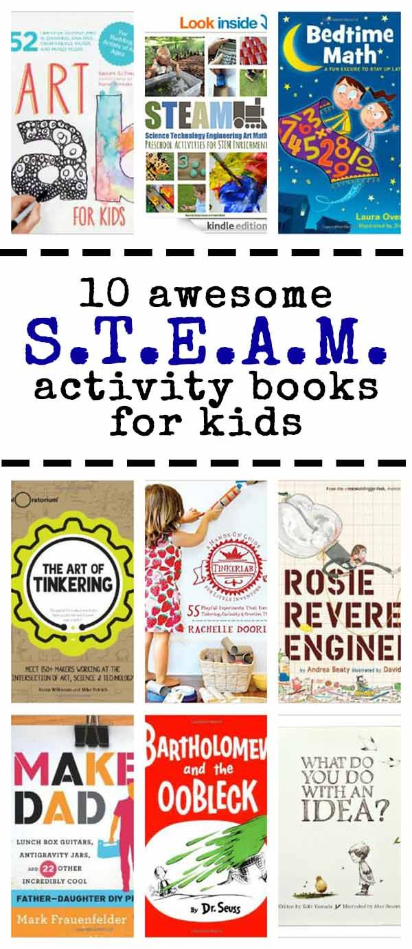 10 fun activity books with steam science technology engineering