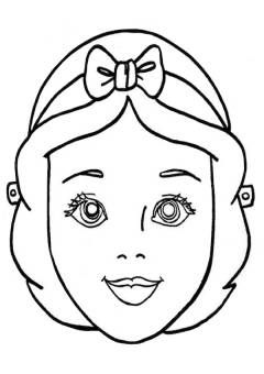Maschera Biancaneve Da Stampare E Colorare Halloween Maschere