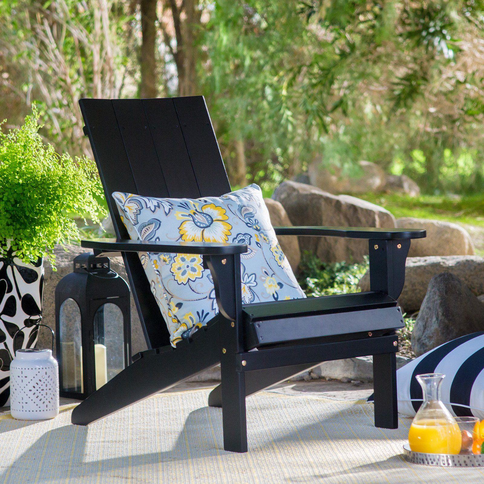 Outdoor Belham Living Portside Modern Adirondack Chair Black