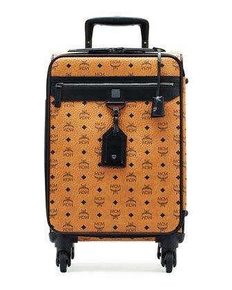 MCM Bag Traveller Suitcase Cognac