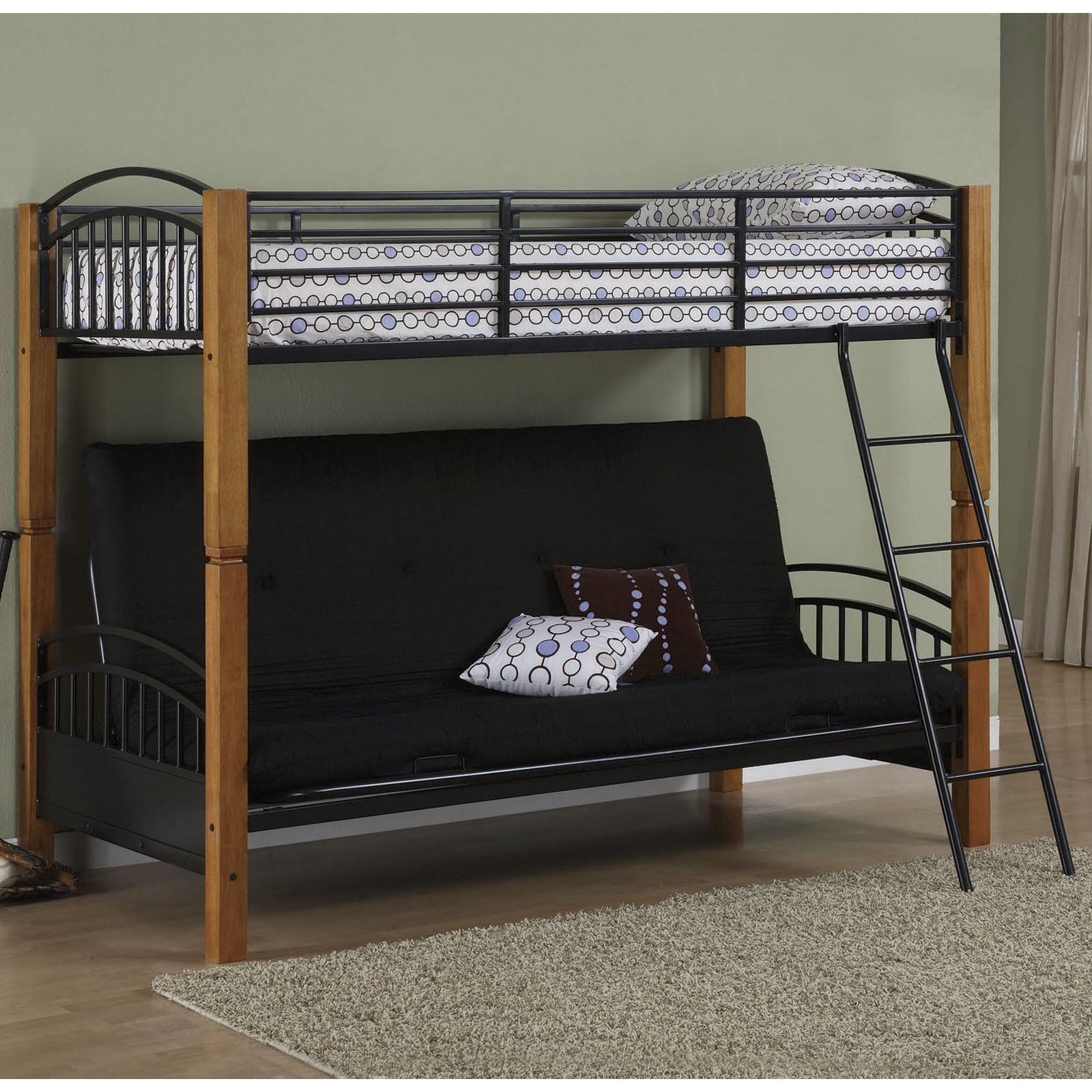 bunk beds with futon colton pinterest bunk bed awesome bunk