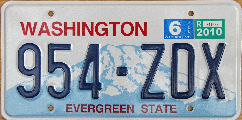 state license plates Washington State License Plate