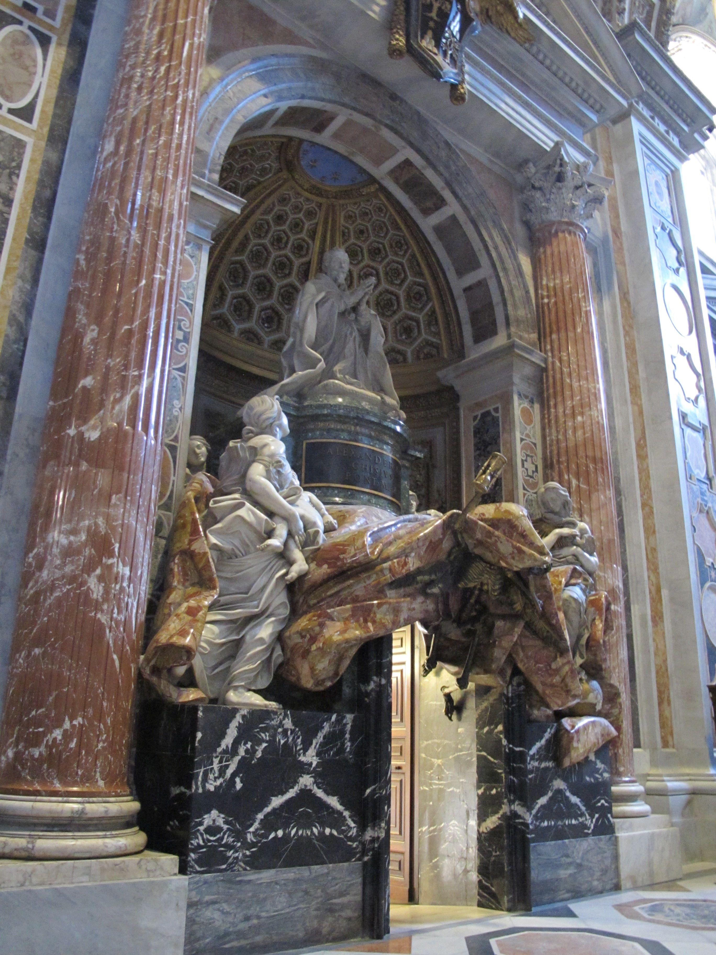 Pope Alexander VII monument, St. Peter's Basilica. St