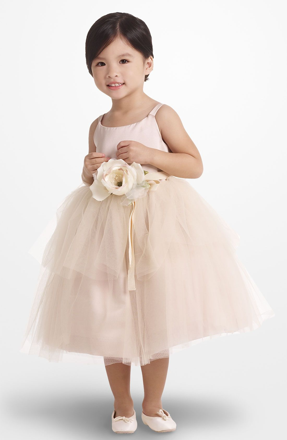 Wedding Toddler Flower Girl Dresses tulle ballerina dress toddler girls and the sweetest flower girl simple high quality love soft pink