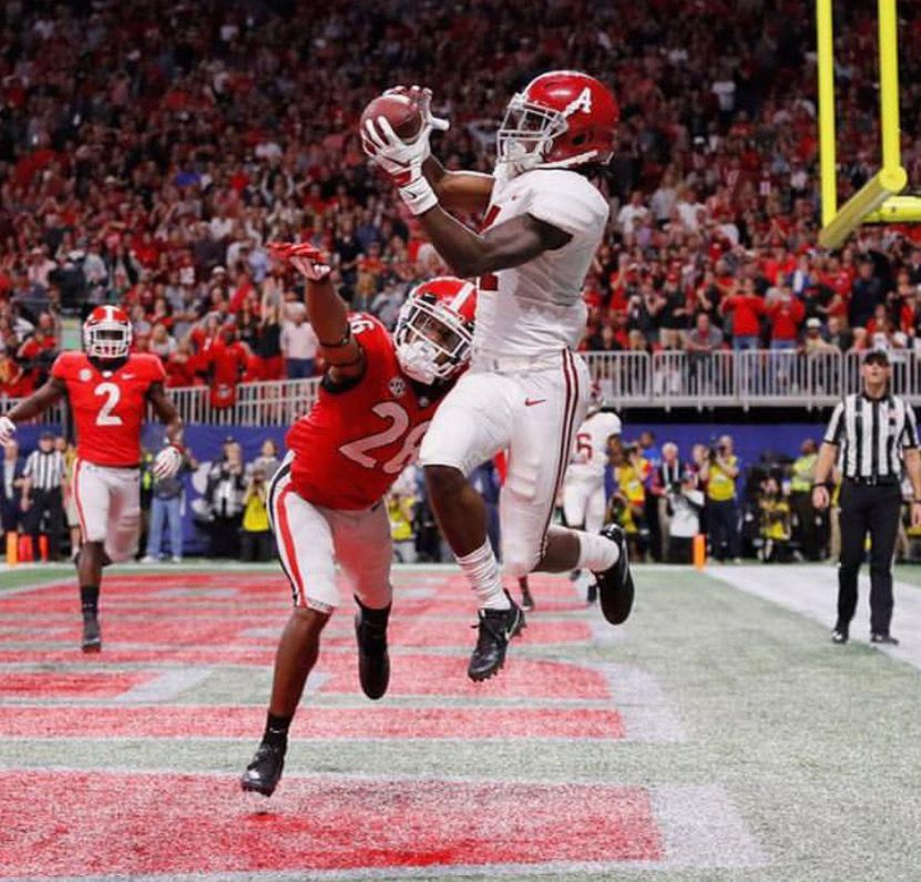 Jerry Jeudy TOUCHDOWN! Alabama 35 28 in the 2018