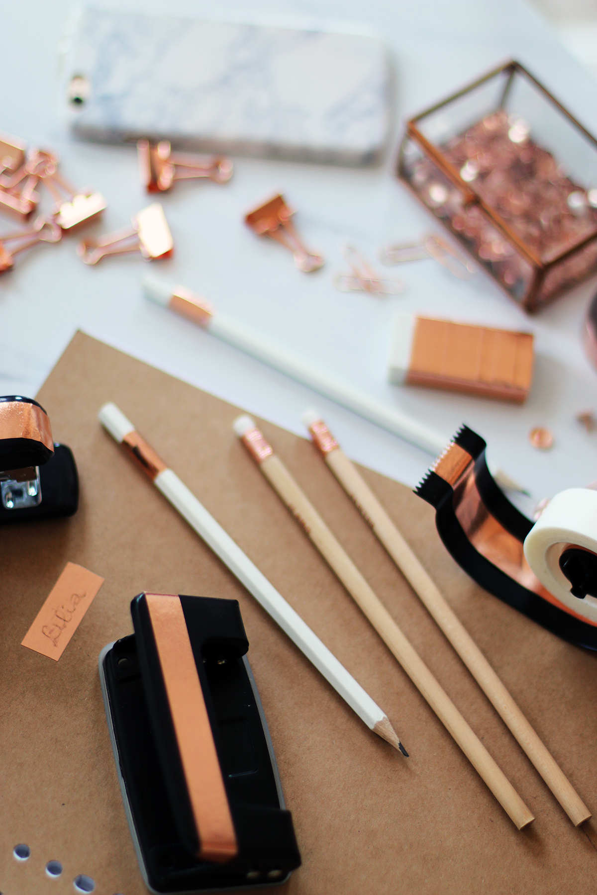 Diy Rose Gold Amp Marble School Supplies Giveaway Study