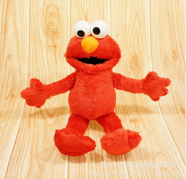 Children Baby Stuffed Toy Elmo ELMO Hongwa Cotton Plush Kid Toys Birthday Gift Doll Affiliate