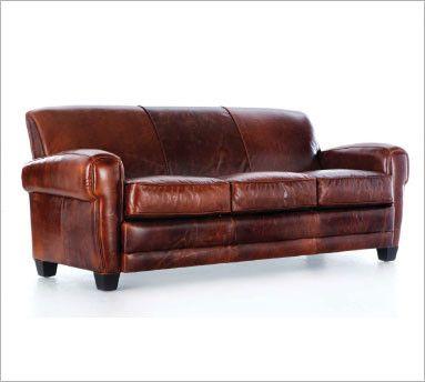 Moroni 614 Havana Leather Sofa | Moroni Furniture