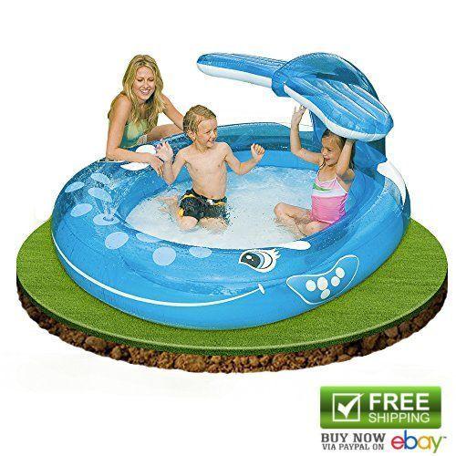 Intex Kiddie Pools Whale Spray Pool 82x62x39 In Kids Baby Pools Sprayers Water Kiddie Pool Baby Pool Spray Pool
