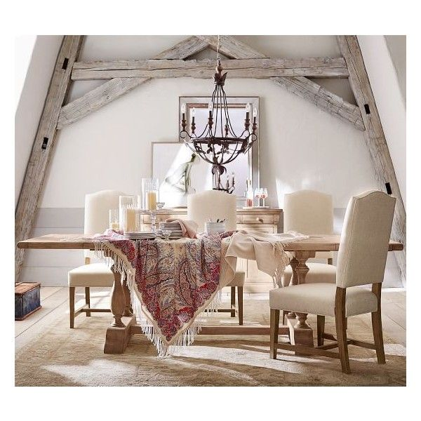 Pottery Barn Parkmore Extending Dining Table Liked On - Pottery barn extension dining table