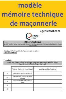 Exemple Memoire Technique Maconnerie Pdf Exemple Memoire Maconnerie Descente De Charge