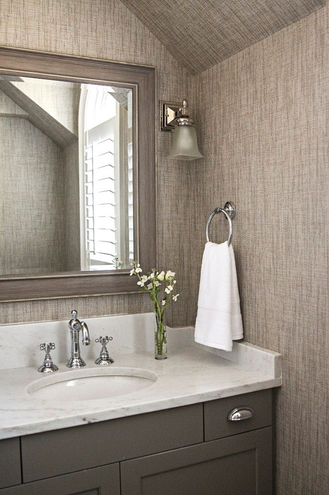 Grasscloth wallpaper. Walls and ceiling with Grasscloth