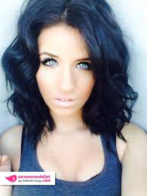 Mavi Siyah Saç Rengi Modelleri Saç Renkleri Hair Color For Black