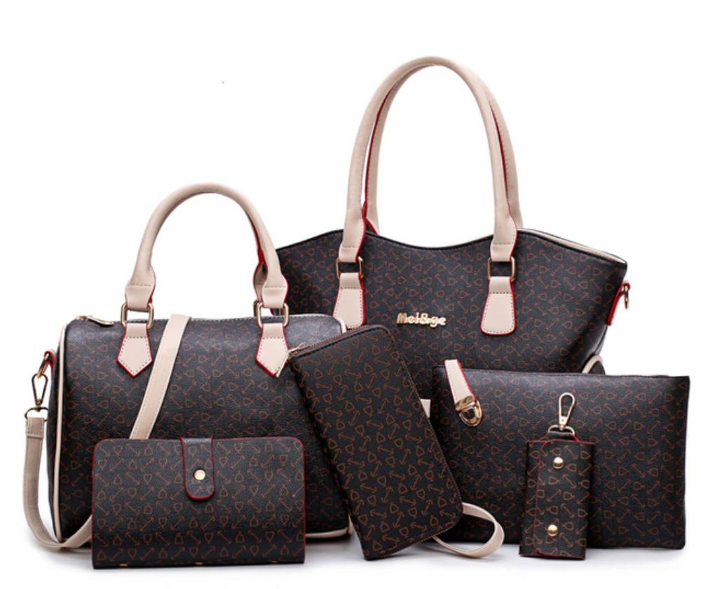 2017 New Women Bags Leather Handbags Fashion Shoulder Bag Female Purse High  Quality 6-Piece Set Designer Brand Bolsa Feminina   Price   58.54 … b4f8e8e0cc206