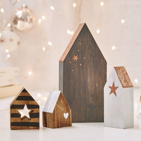 weihnachtsdeko aus holz deko weihnachten landhaus deko small wood crafts little living. Black Bedroom Furniture Sets. Home Design Ideas