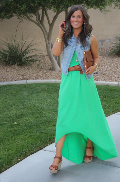 2fbf42a4f90 Green Hi Low Dress