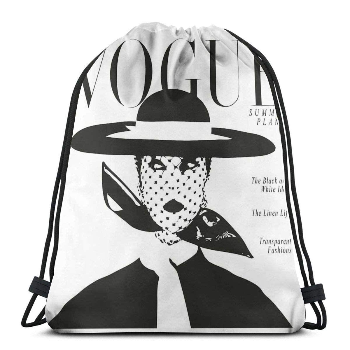 Photo of Betty Vintage Vogue Cover Fashion Magazine Art Editorial Drawstring Bags Gym Bag