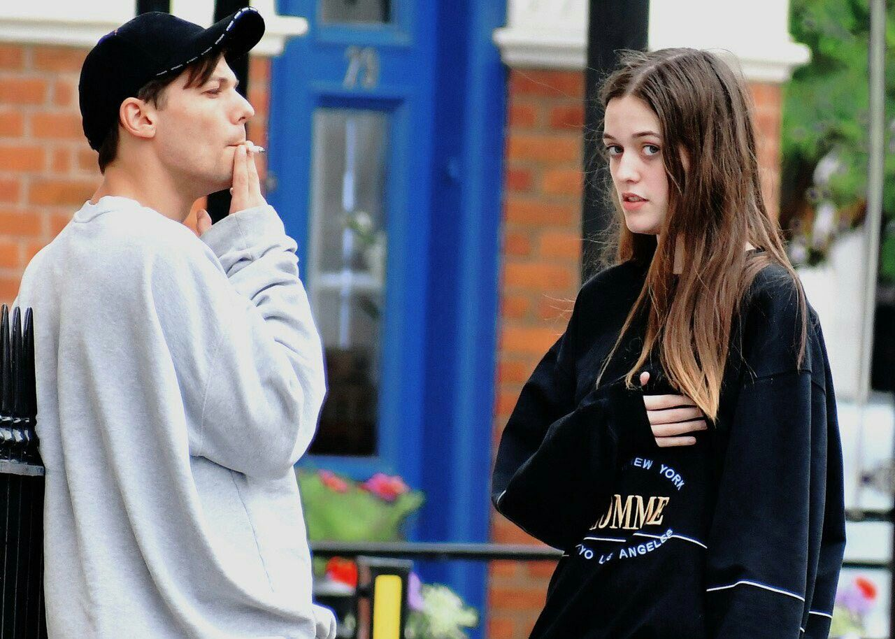 Félicité Tomlinson Wallpaper: Louis With His Sister, Fizzy. September 8, 2018 ©️ Owner