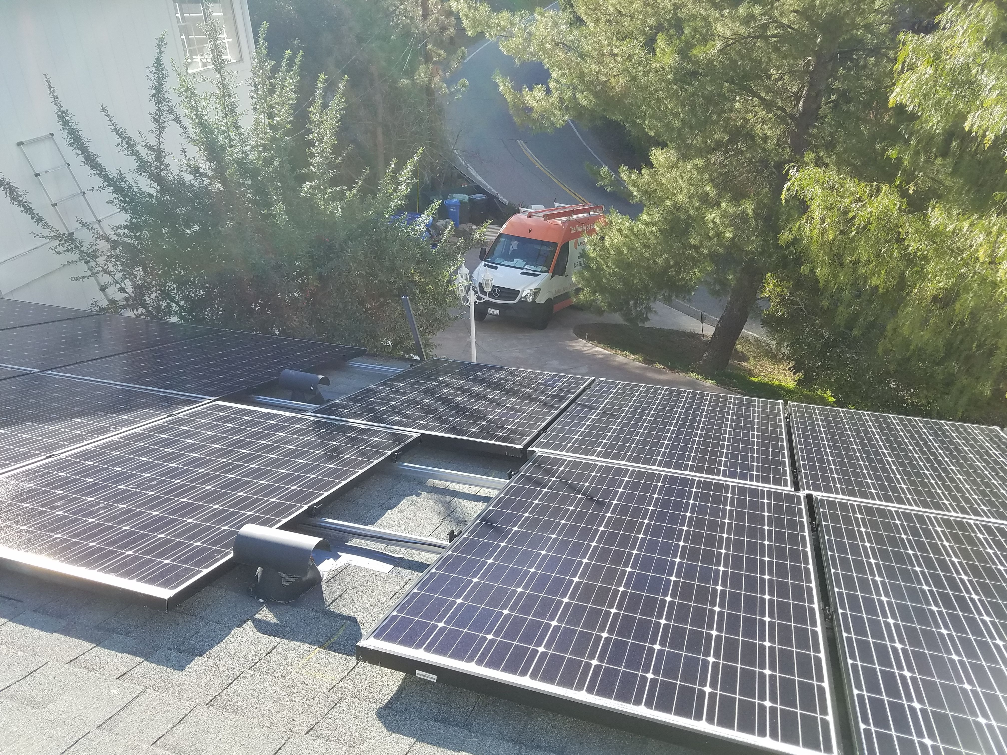 Installation Done By Lasg Our Lasg Van Is On The Background Waiting To Arrive At Your House Visit Our Website Https L Solar Best Solar Panels Solar Panels