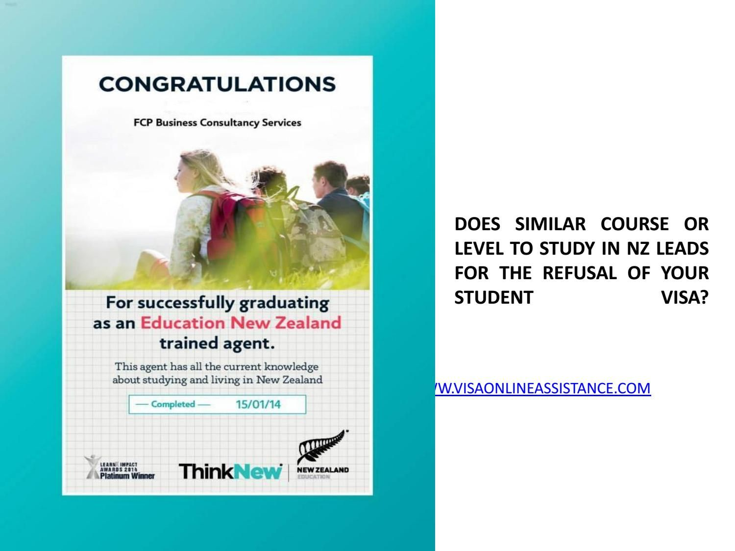 Reapplication After Refusal Of Student Visa In Nz What Are Your