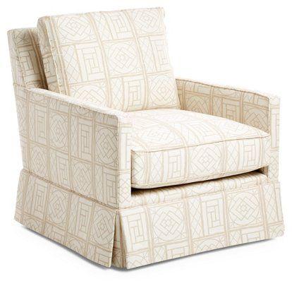 Auburn Skirted Club Chair, Bamboo Lattice $1,495.00