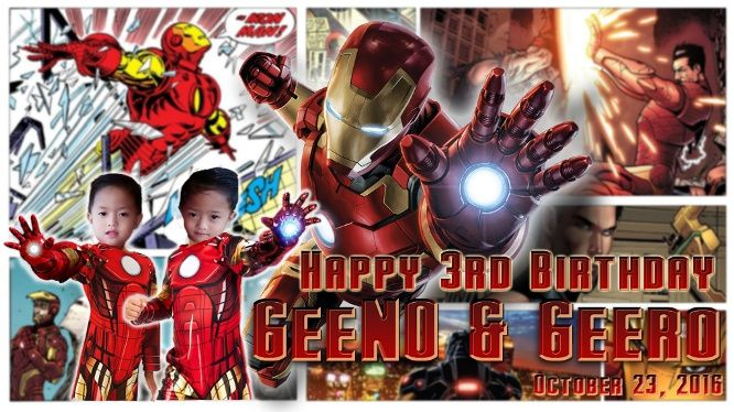 Design Birthday Tarpaulin And Invitation With Ur Fave Heroes By