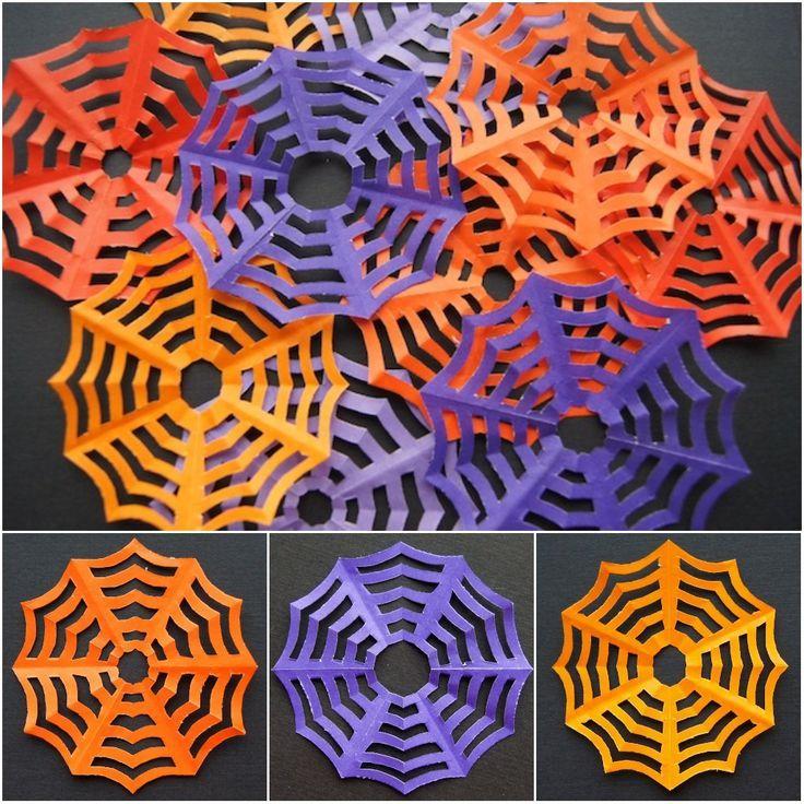Omiyage Blogs DIY Spiderweb Kirigami Preschool Pinterest - halloween diy crafts