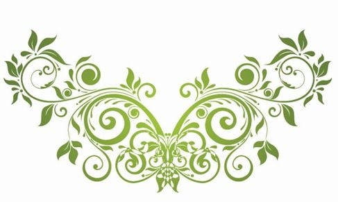 Swirly Clip Art Vector Swirl Floral Design Element Free Vector