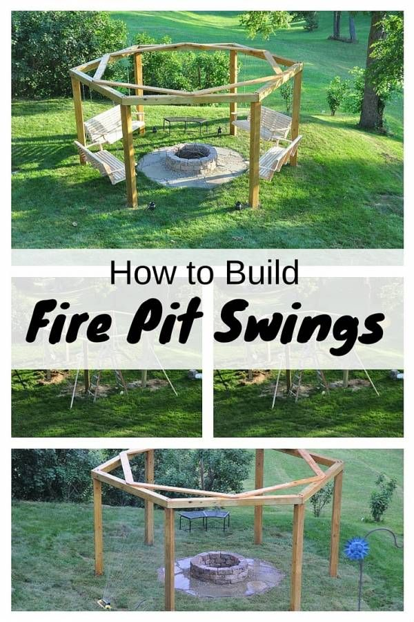 How to Build Fire Pit Swings | Swings, Campaign and Content