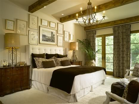 the large tuscan style bedroom set represents a night of fort