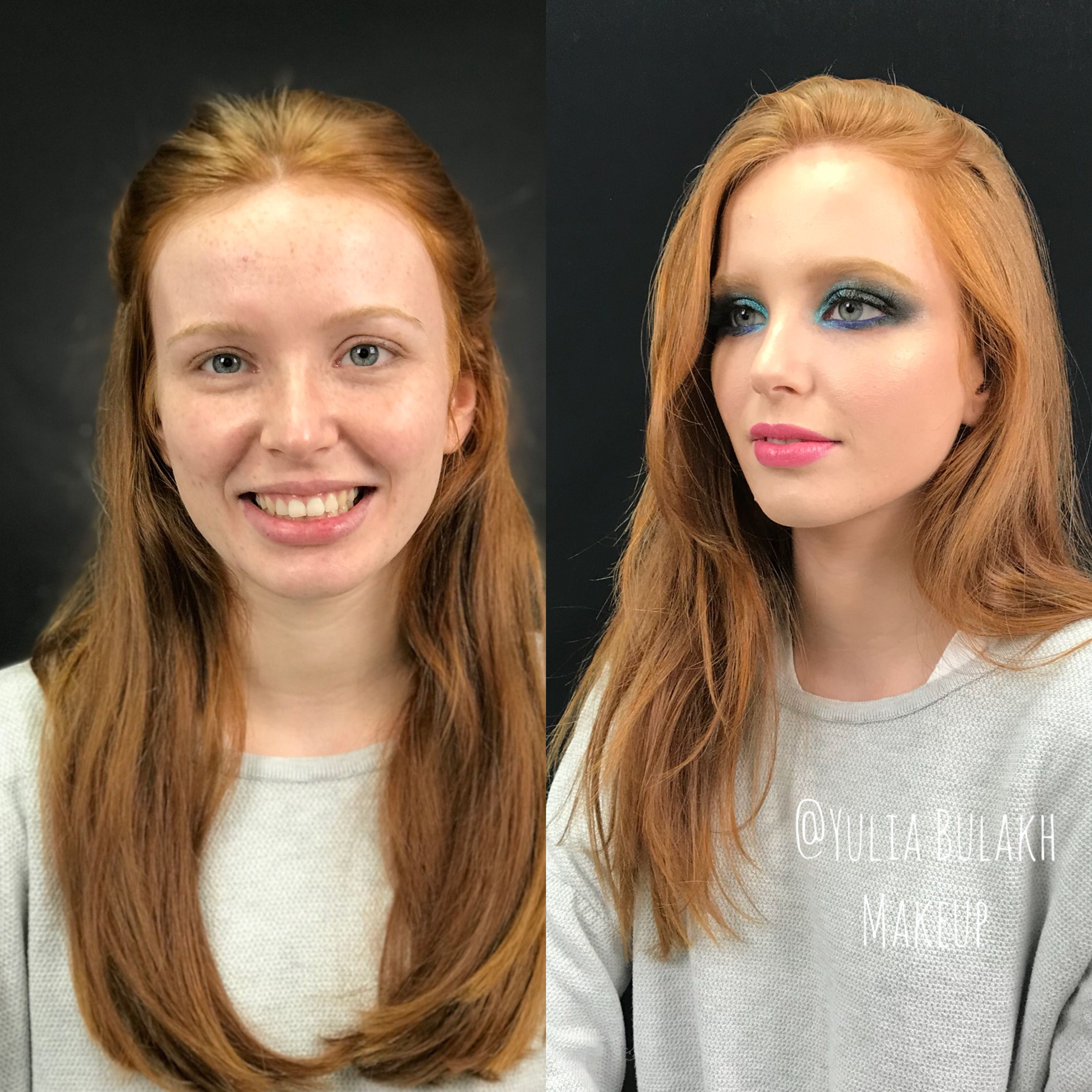 Makeup in Spain. Makeup before & after. Makeup and