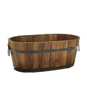 Oval Barrel Planter