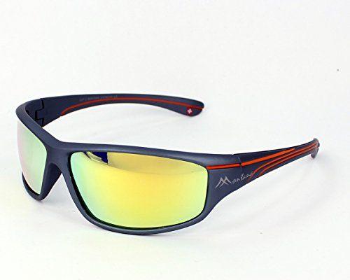 812143f1229 Montana Sonnenbrillen SP309 Plastik matt grau - orange grau polarisierte  mit gelb verspiegelt effekt Abmessungen